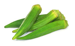 Lady Fingers or Okra Stock Photos