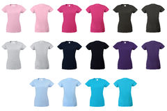 Lady fit T-shirt 02 Royalty Free Stock Images