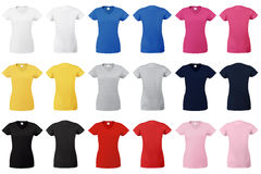 Lady Fit V-neck T-shirt. Royalty Free Stock Photography