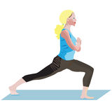 Lady fitness Stock Image