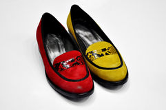 Lady flat shoes Stock Photo