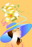 Lady and floral design Royalty Free Stock Photos