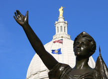 Lady Forward greets Capitol visitors Stock Images