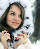 Lady in fur Stock Photography