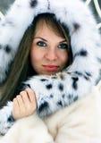 Lady in fur stock photo