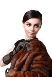 Lady in a fur coat Royalty Free Stock Photo