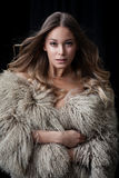 Lady in fur coat Stock Image