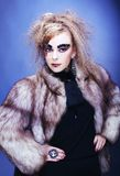 Lady in furs. Royalty Free Stock Image