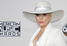 Lady Gaga. At the 2016 American Music Awards held at the Microsoft Theater in Los Angeles, USA on November 20, 2016 Royalty Free Stock Images