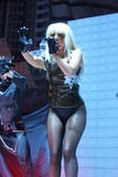 Lady Gaga performing Live at teh O2 in London Royalty Free Stock Images