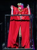 Lady Gaga performs in concert stock images