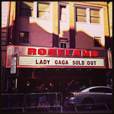 Lady Gaga Roseland Exterior Sign Royalty Free Stock Photos