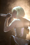 Lady gaga singing in Cologne. Lady Gaga singing on stage in Cologne Germany Stock Photo