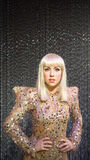 Lady Gaga. Wax statue of the American singer, songwriter, and actress Lady Gaga. Her real name is Stefani Joanne Angelina Germanotta. Photo taken at the Madame Stock Photos