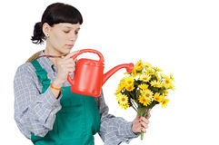 Lady gardener Royalty Free Stock Photos
