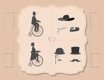 The lady and gentleman on cycling. Royalty Free Stock Image