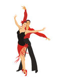 Lady and gentleman dance paso doble Stock Photography