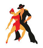 Lady and gentleman dance tango Royalty Free Stock Photo