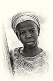 Lady from Ghana poses for the camera Stock Photography