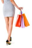 Lady with gifts Stock Photography