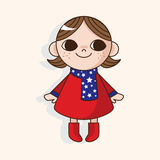 Lady girl cartoon theme elements Royalty Free Stock Photo