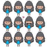 Lady girl Girl women cute beautiful elegant cartoon design abstract illustration Stock Image