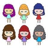 Lady girl Girl women cute beautiful elegant cartoon design abstract illustration Royalty Free Stock Photo