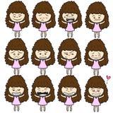 Lady girl Girl women cute beautiful elegant cartoon design abstract illustration Royalty Free Stock Image