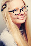 Lady in glasses closeup Royalty Free Stock Image