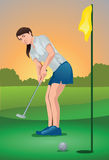 The Lady Golf Player Royalty Free Stock Images