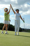 Lady Golfers celebrate stock image
