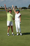 Lady Golfers victory Stock Photo