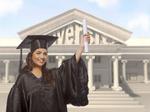 Lady Graduate stock photo
