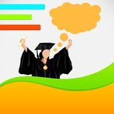 Lady in Graduation gown Royalty Free Stock Photo