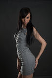 Lady in gray Royalty Free Stock Photo