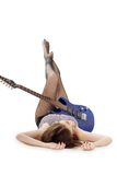 Lady with a guitar Royalty Free Stock Photo