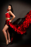Lady in gypsy costume dancing flamenco Stock Image