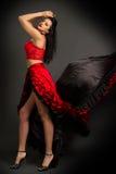 Lady in gypsy costume dancing flamenco Stock Photo