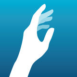 Lady hand silhouette  Royalty Free Stock Photos