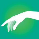 Lady hand silhouette vector Stock Photography