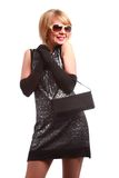 Lady  with handbag Royalty Free Stock Images
