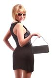 Lady  with handbag Royalty Free Stock Photos