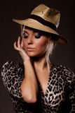 Lady in hat Royalty Free Stock Image