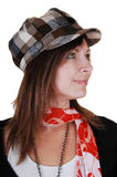 Lady with hat. Stock Photography