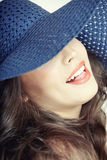 Lady with hat Royalty Free Stock Image