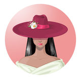 Lady in the hat Royalty Free Stock Image