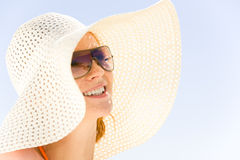 Lady with hat Stock Photos