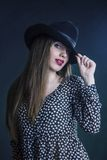 The lady in a hat. Stock Image