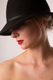 Lady in hat Stock Photography