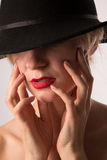 Lady in hat Royalty Free Stock Photography